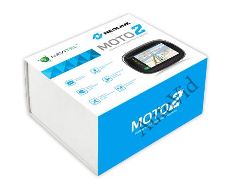 GPS мото навигатор Neoline Moto 2 с картами России