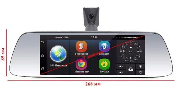 Android видеорегистратор с навигацией Dixon M10